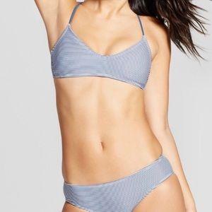 Target Xhilaration Blue & White Striped Bikini